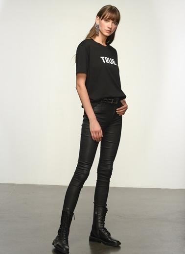 NGSTYLE Kadın Baskılı  Tişört NGKSS21TS0020 Siyah